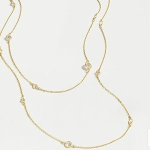 J.Crew double stand delicate gem necklace